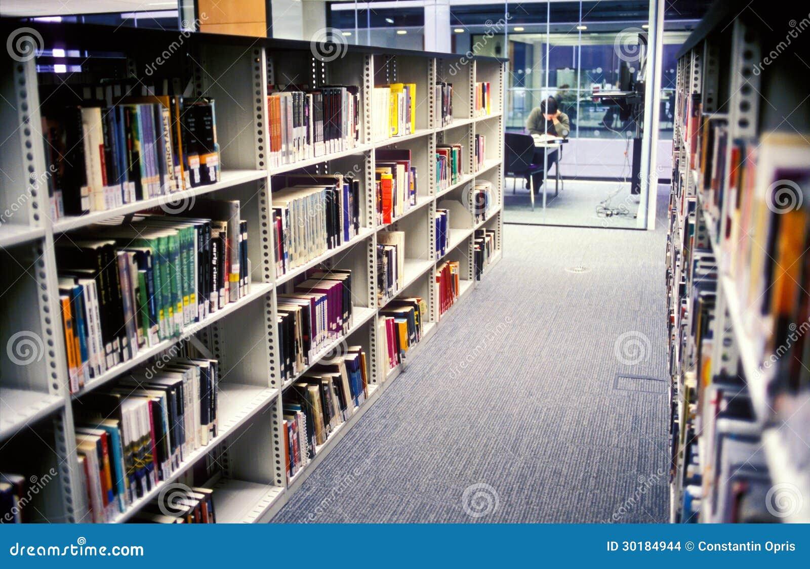 De bibliotheek van de campus