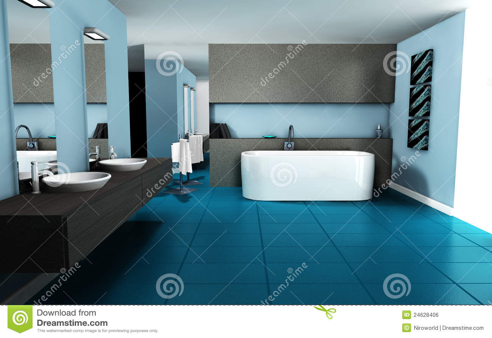 de binnenlandse badkamers van het ontwerp stock illustratie afbeelding 24628406