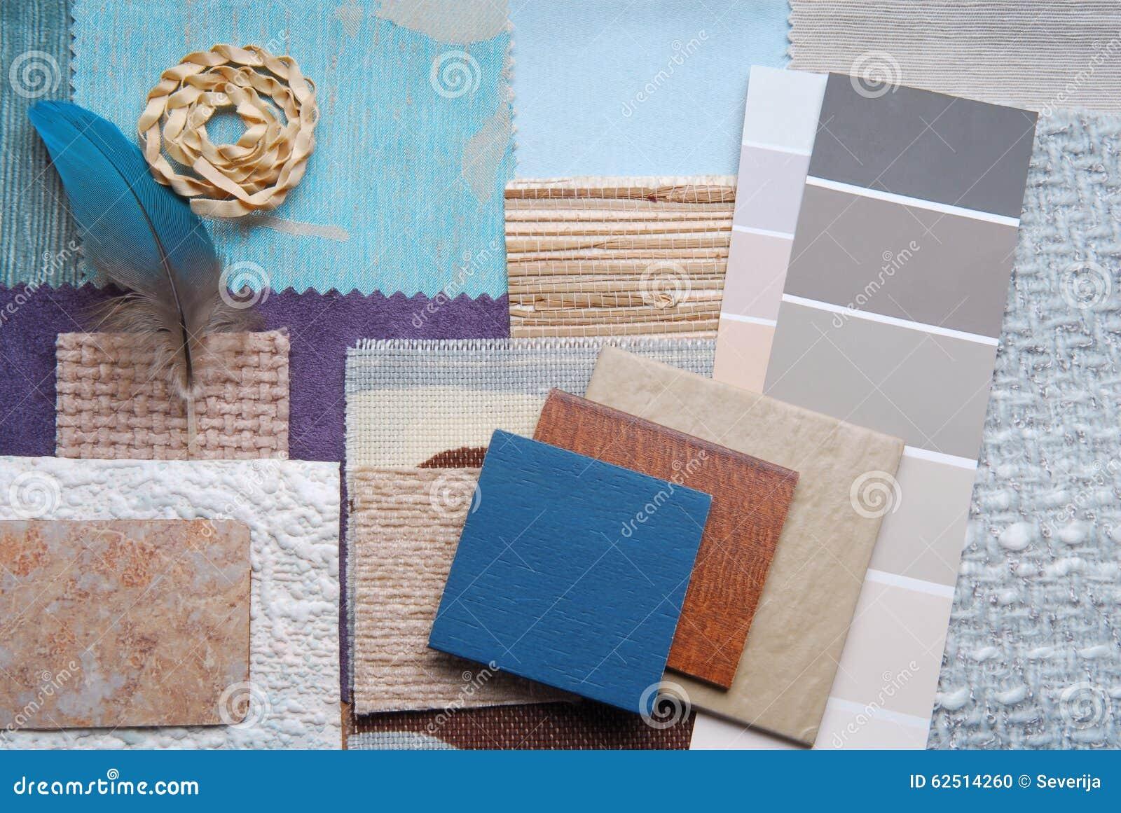 De binnenlandse selectie van het kleurenontwerp stock foto afbeelding 62514260 - Grafiek blauw grijze verf ...