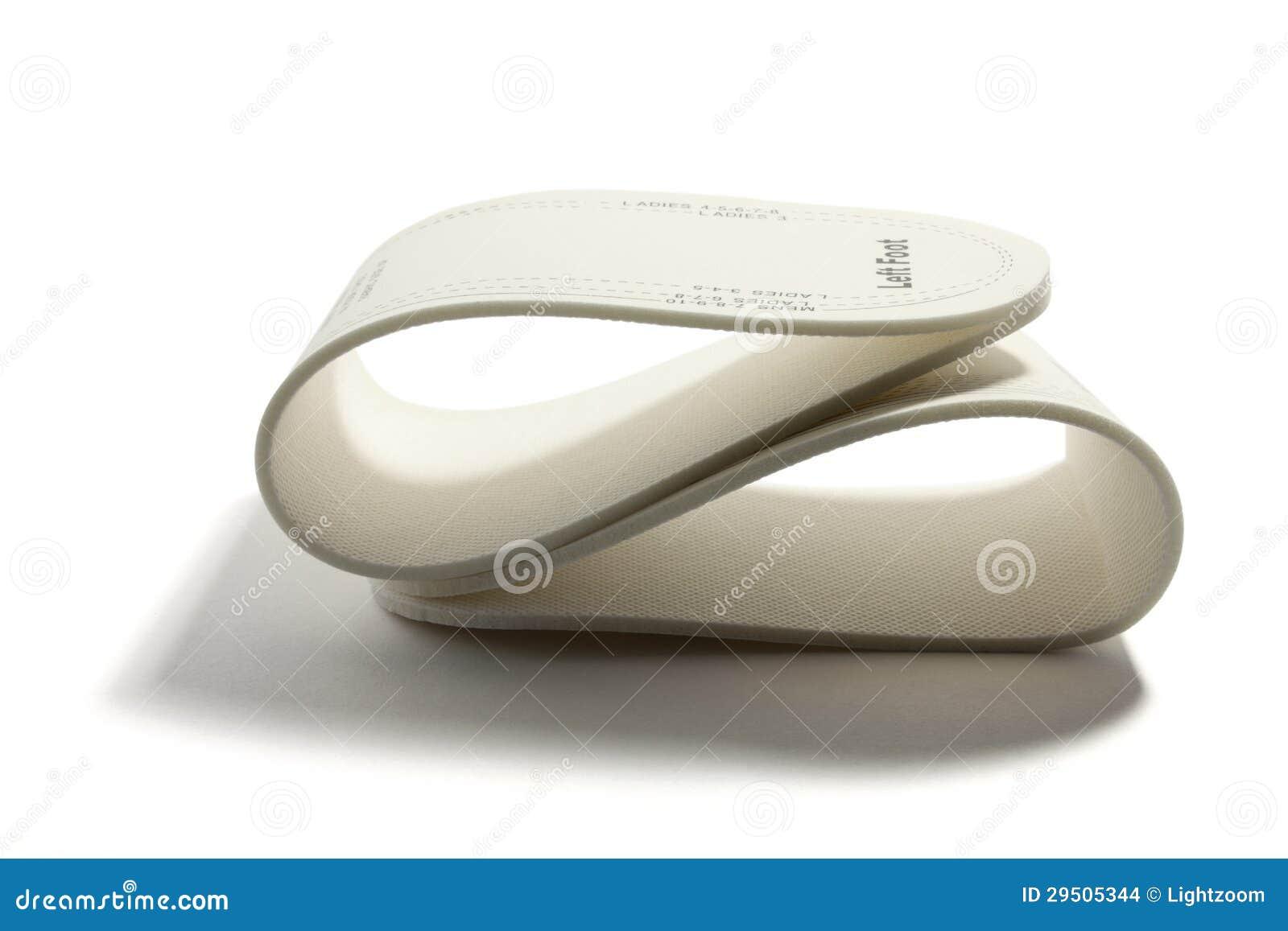 De Binnenzolen van de schoen