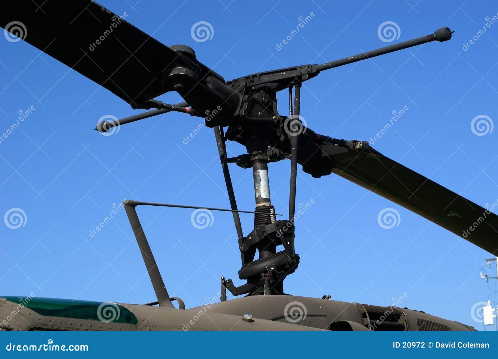 De Bladen van de helikopter
