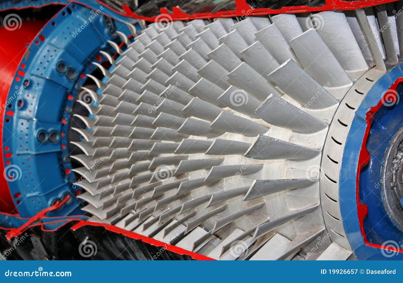 De Bladen van de turbine.