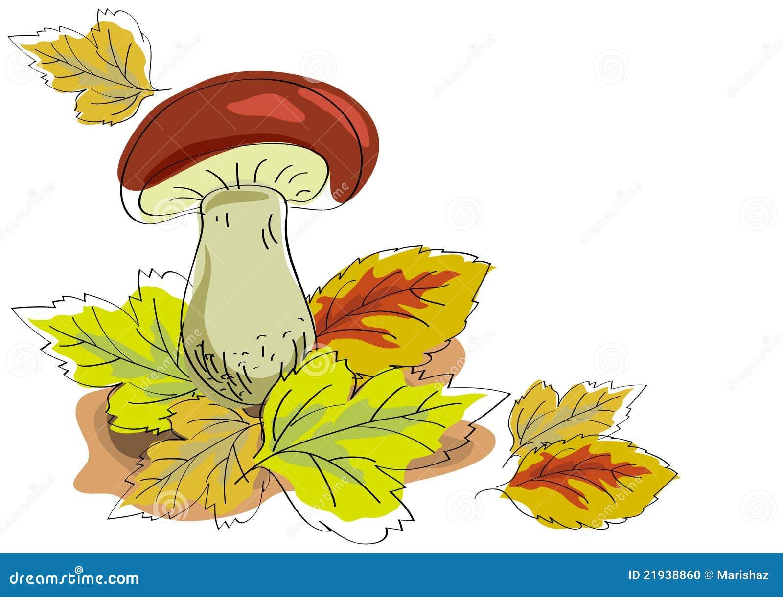 Рисунок осень гриб