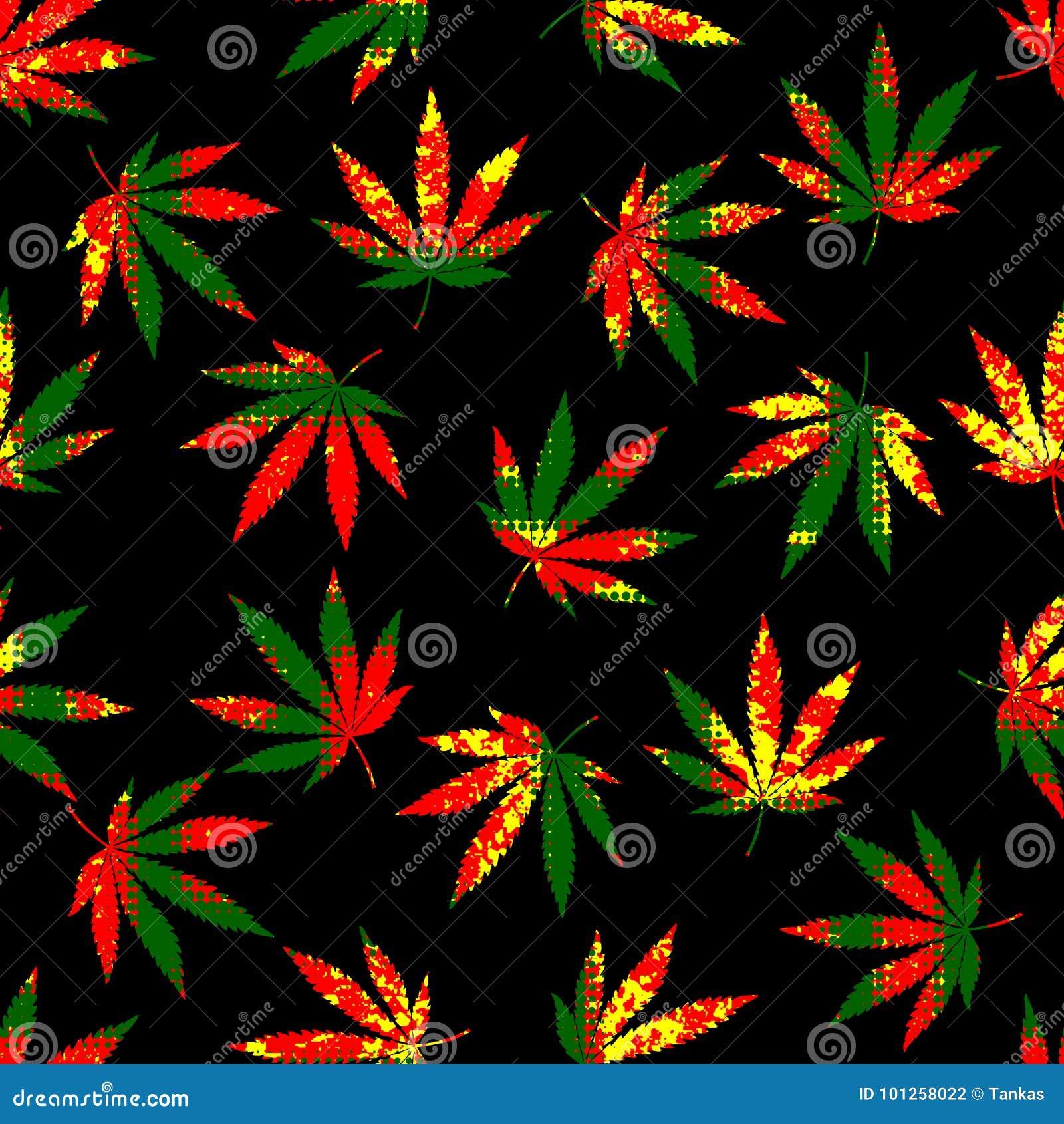 De bladeren van de Rastafarian grunge hennep