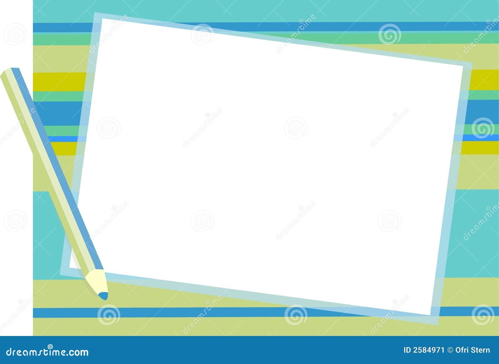 De blauwe achtergrond van de Blocnote