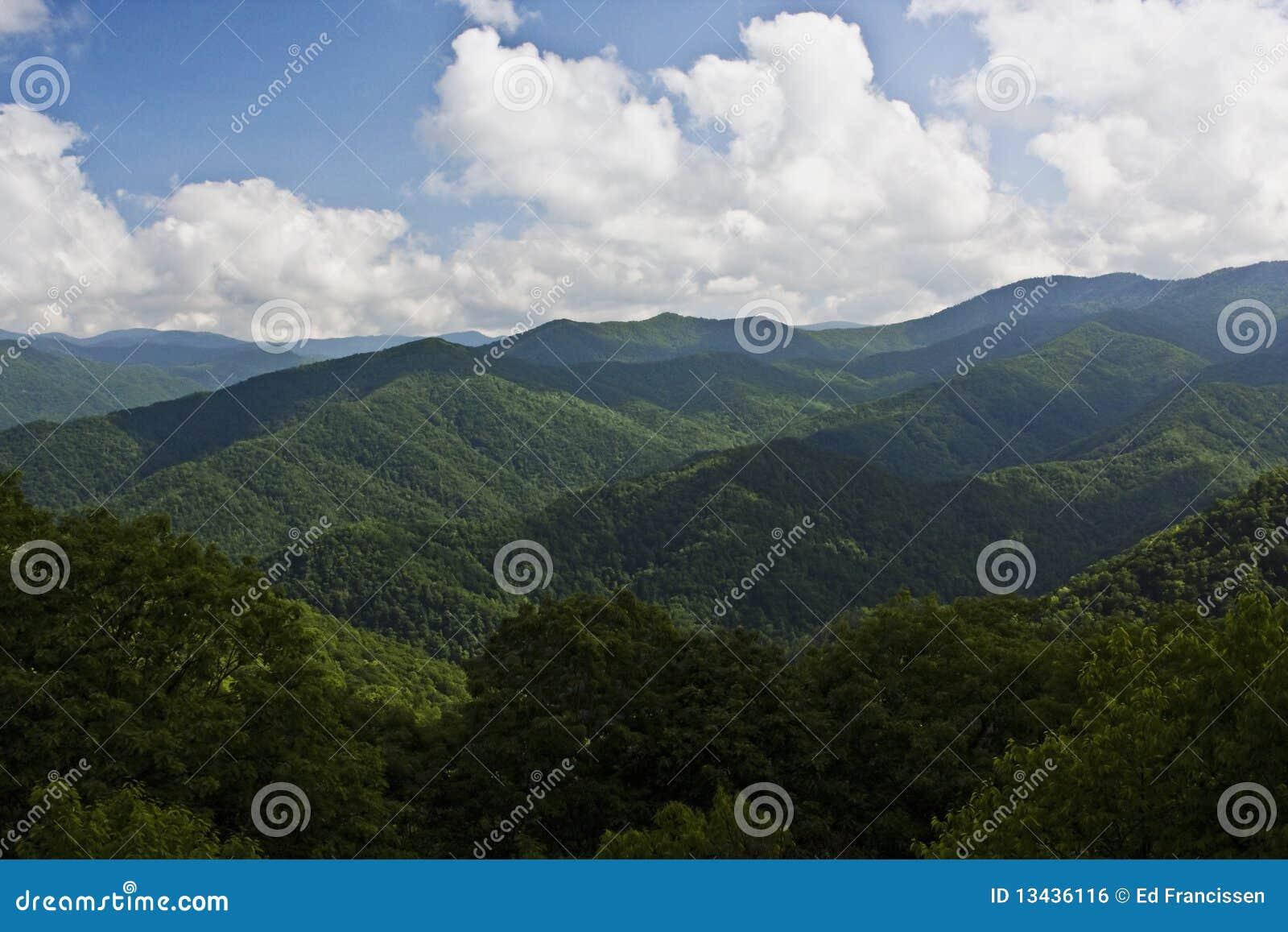 De blauwe Bergen van de Rand