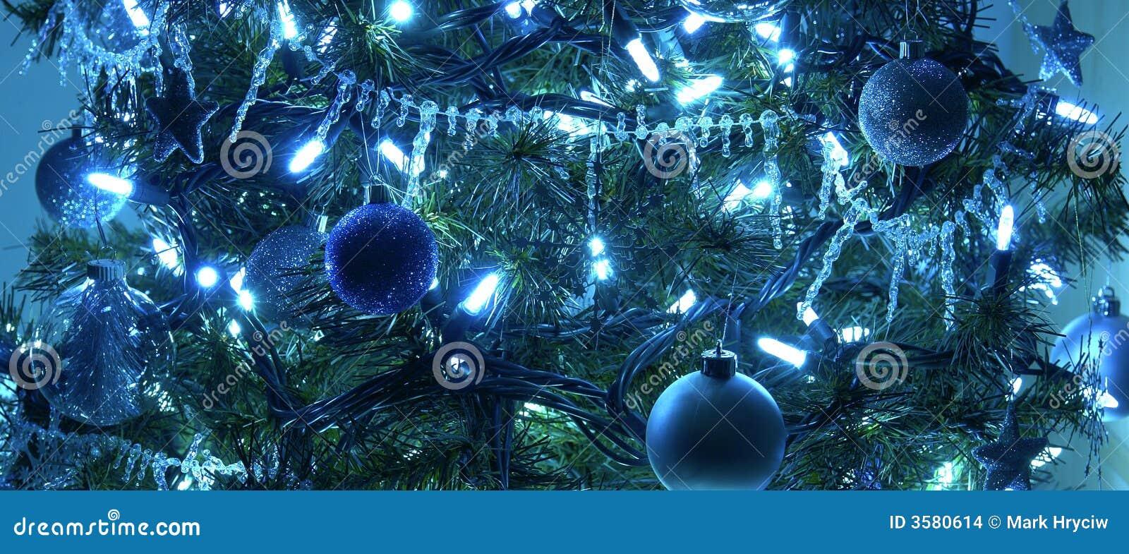 De Blauwe Decoratie van de kerstboom
