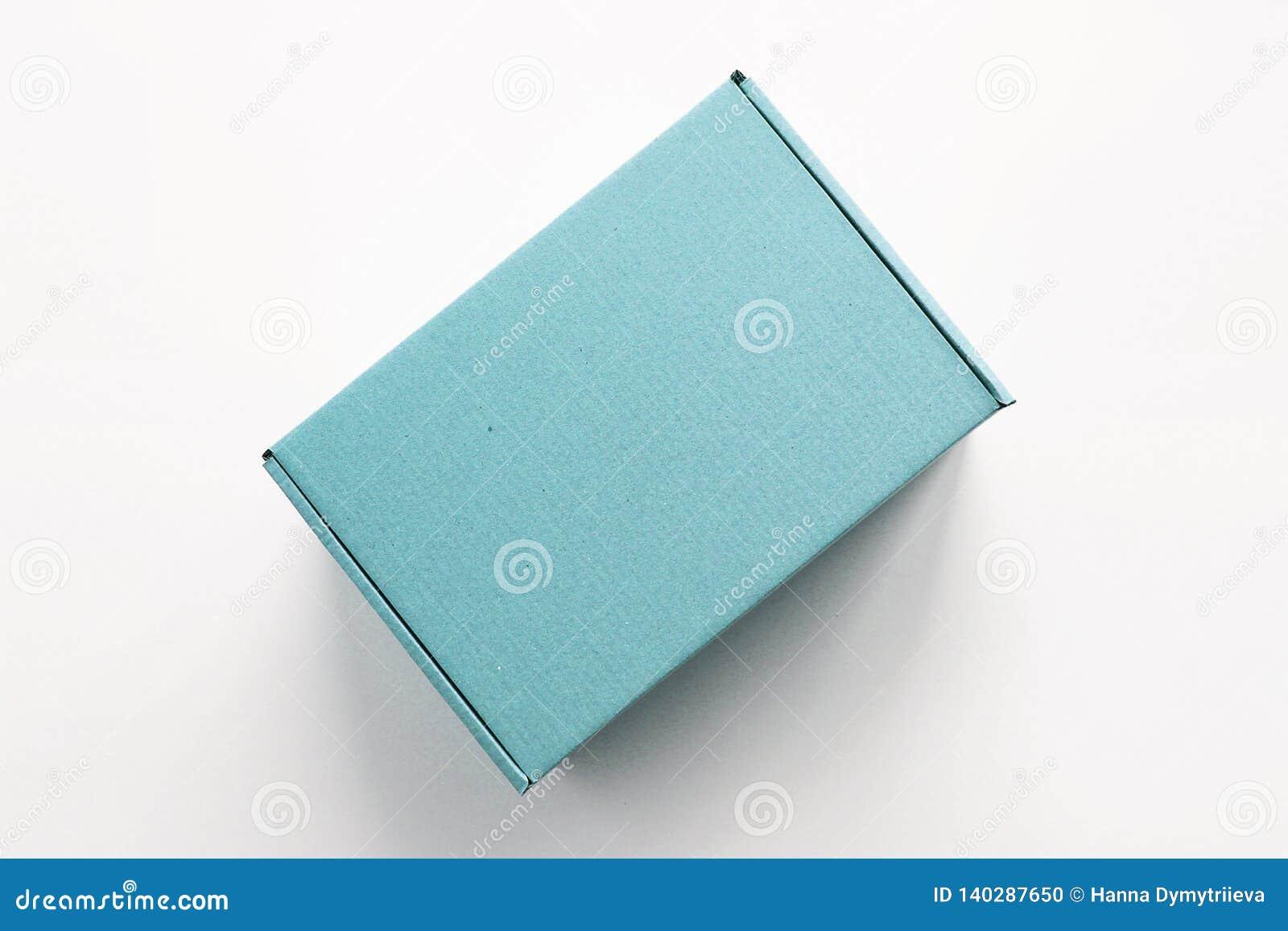 De blauwe doos van de kartongift