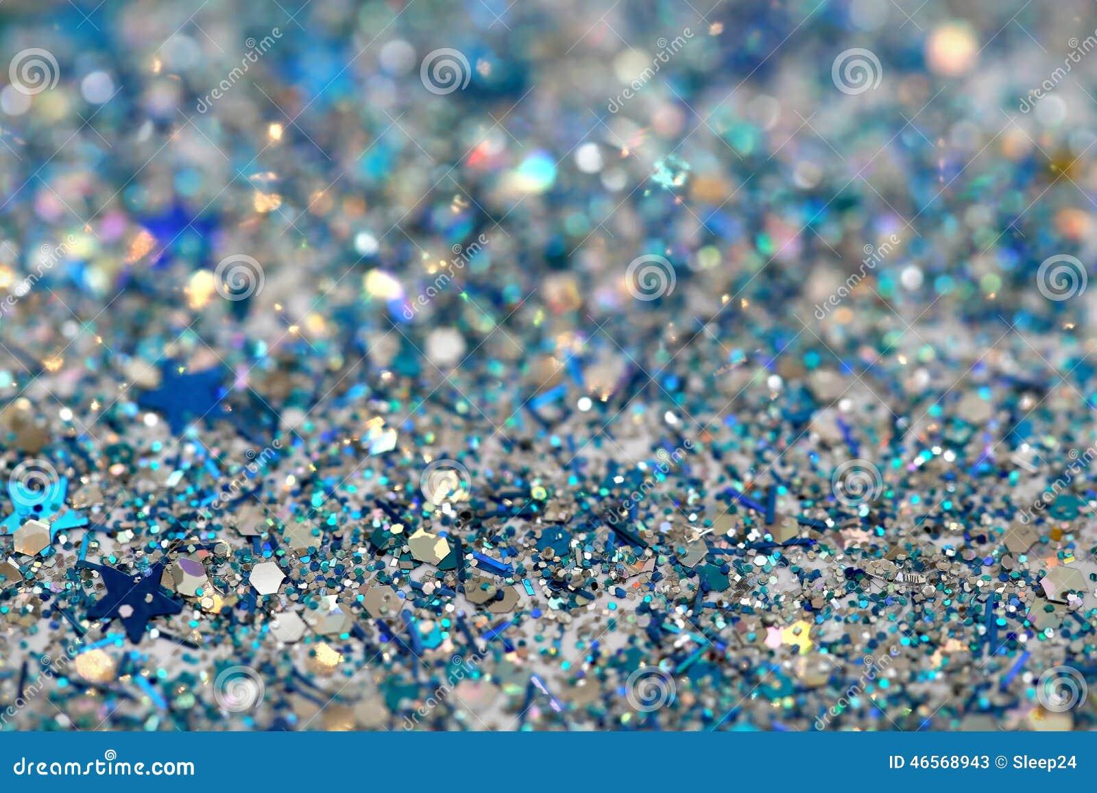 De Blauwe En Zilveren Bevroren Fonkelende Sterren Van De Sneeuwwinter Schitteren Achtergrond