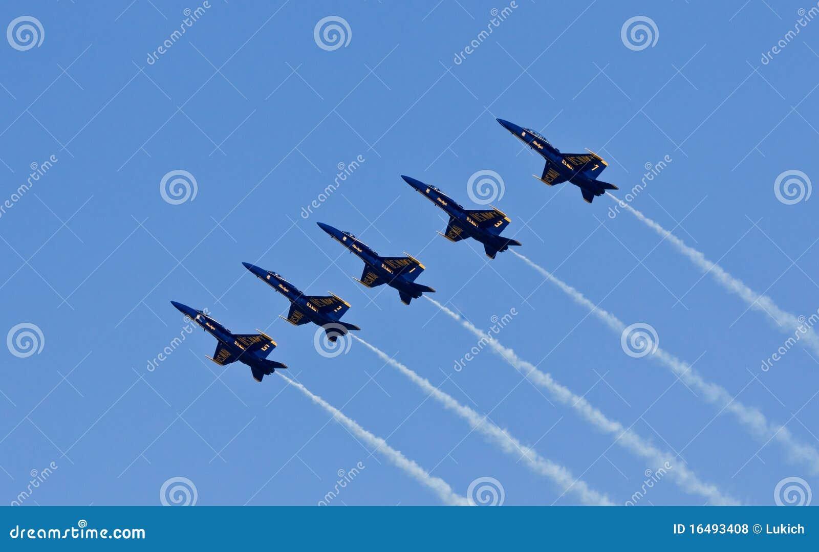 De Blauwe engelen van het Eskader van de Demonstratie van de Marine van de V.S.