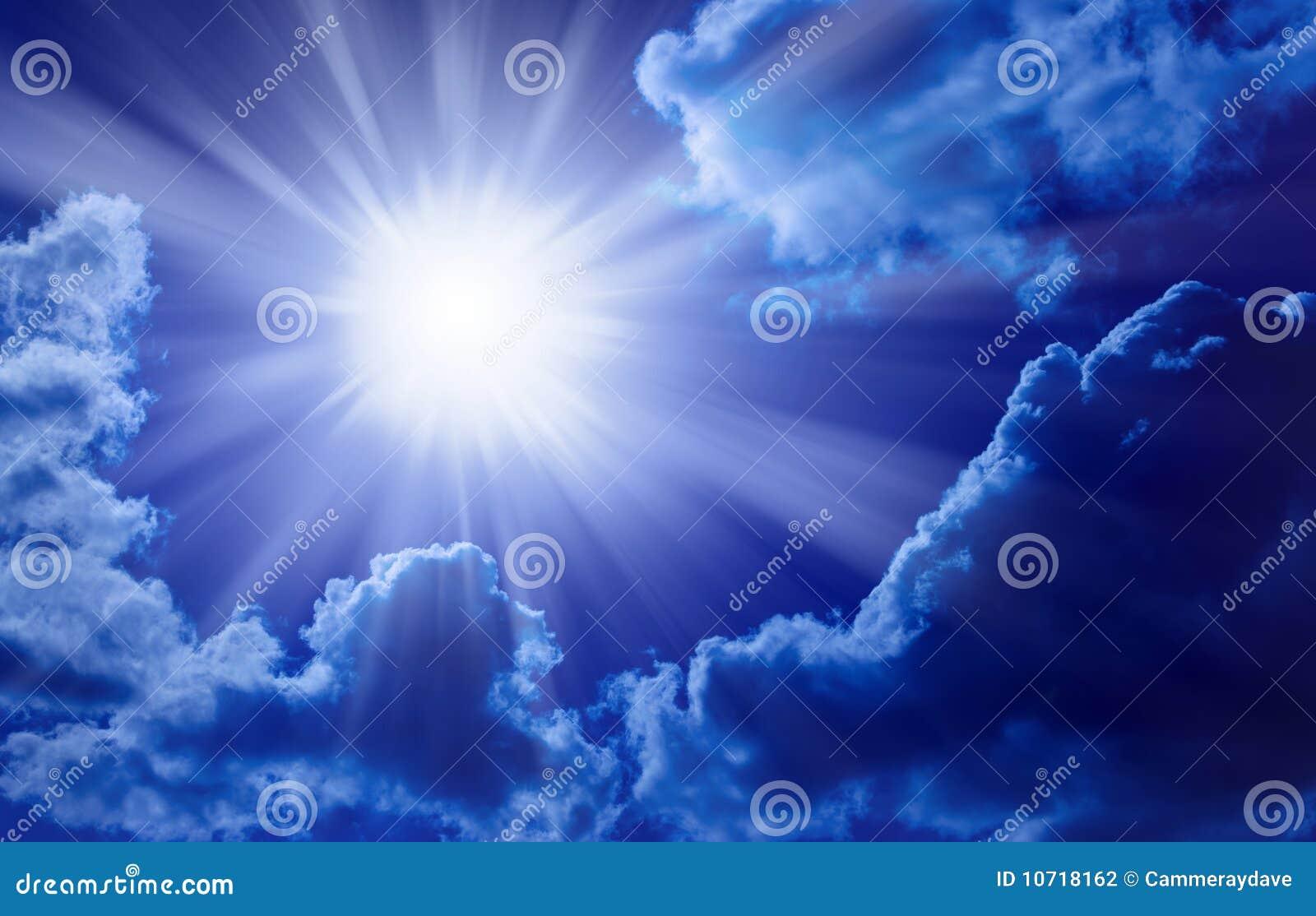 De blauwe Hemel van de Zon