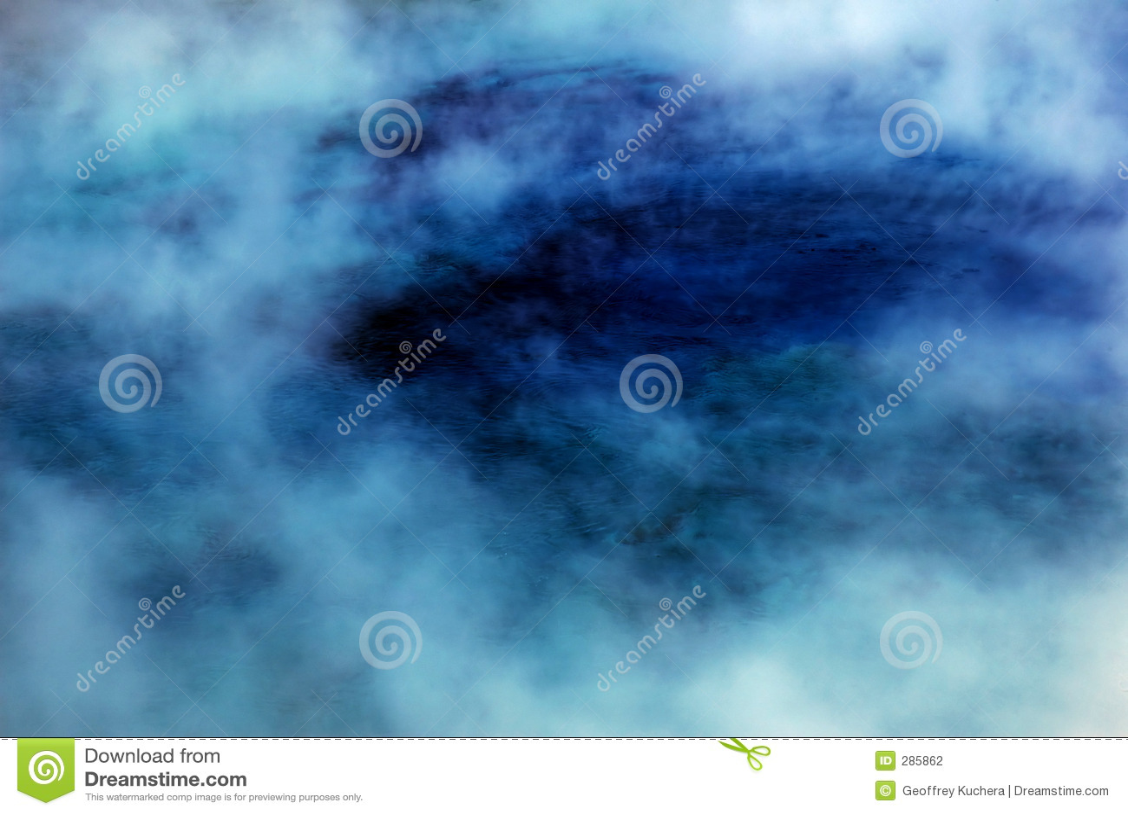 De blauwe Hete Pool van de Lente met Stoom