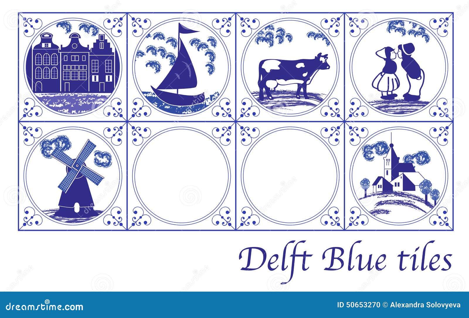 keuken tegels delfts blauw : De Blauwe Nederlandse Tegels Van Delft Met Volksbeelden Vector