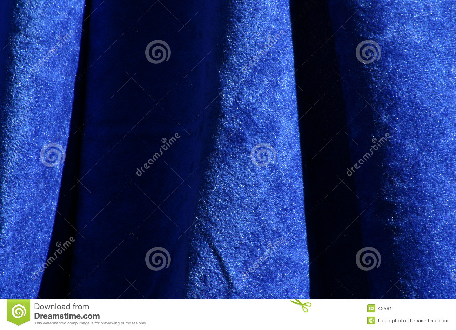 De blauwe Textuur van de Stof van het Fluweel