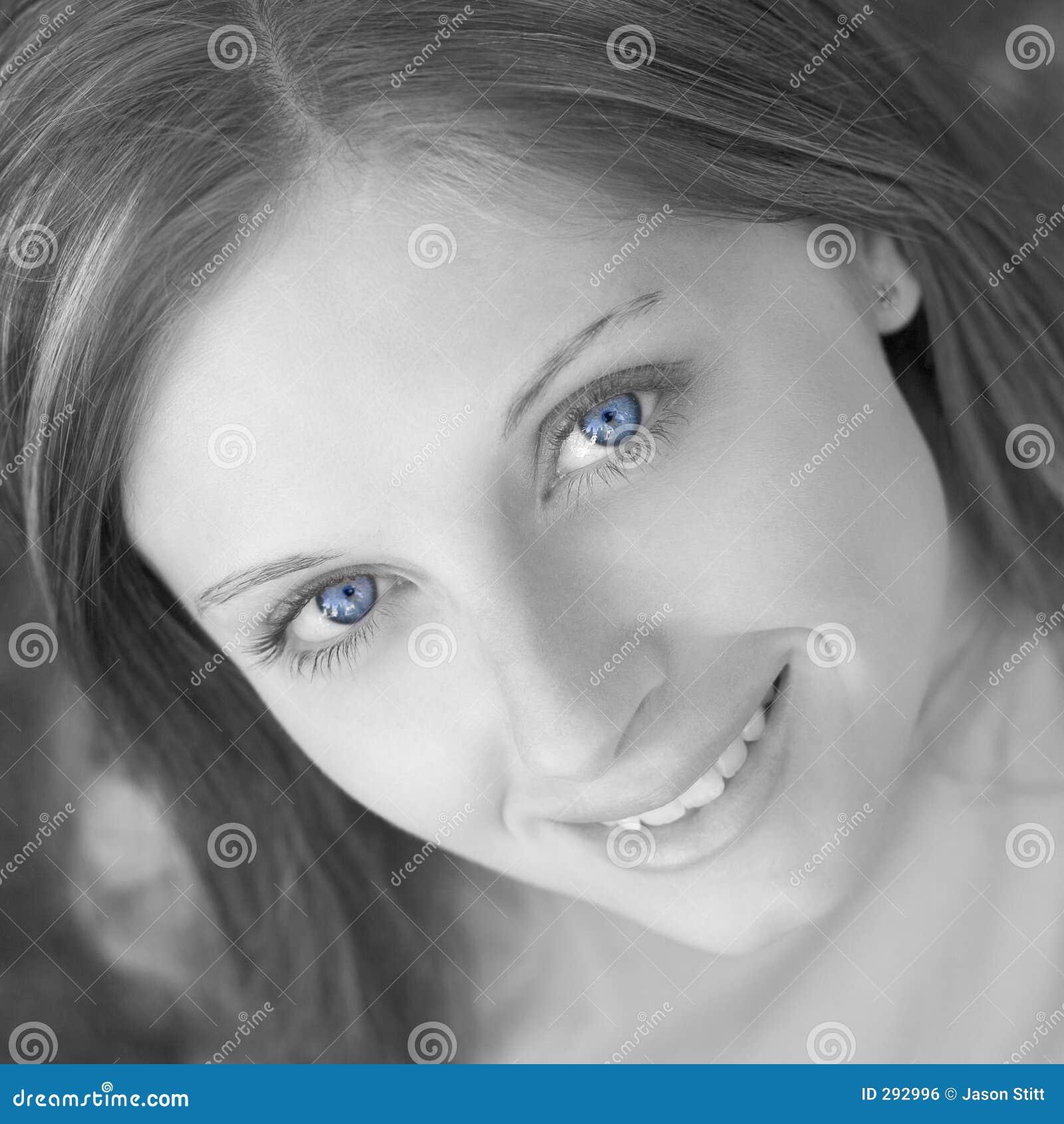De blauwe Vrouw van Ogen