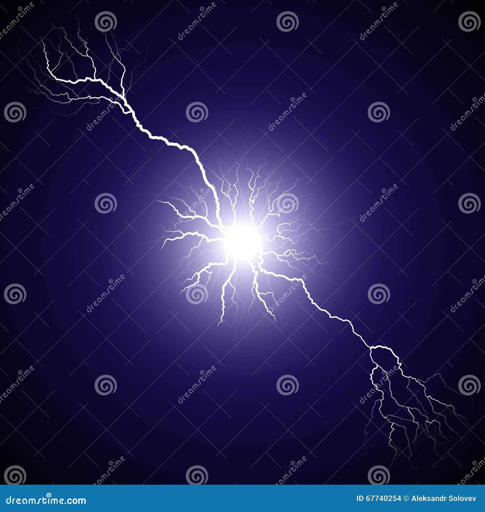De bliksem van het centrum bifurcated