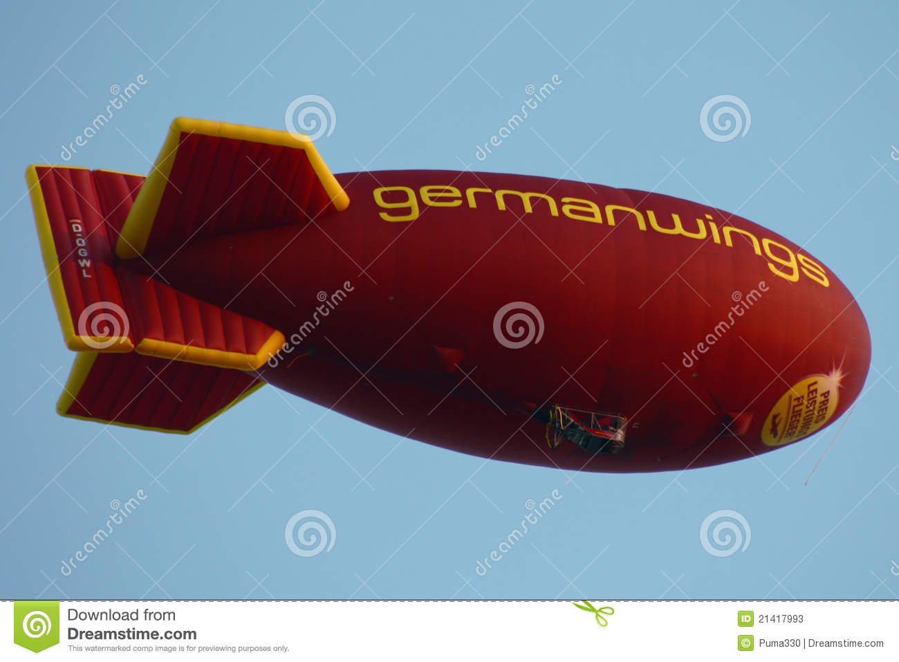 De blimp van Germanwings