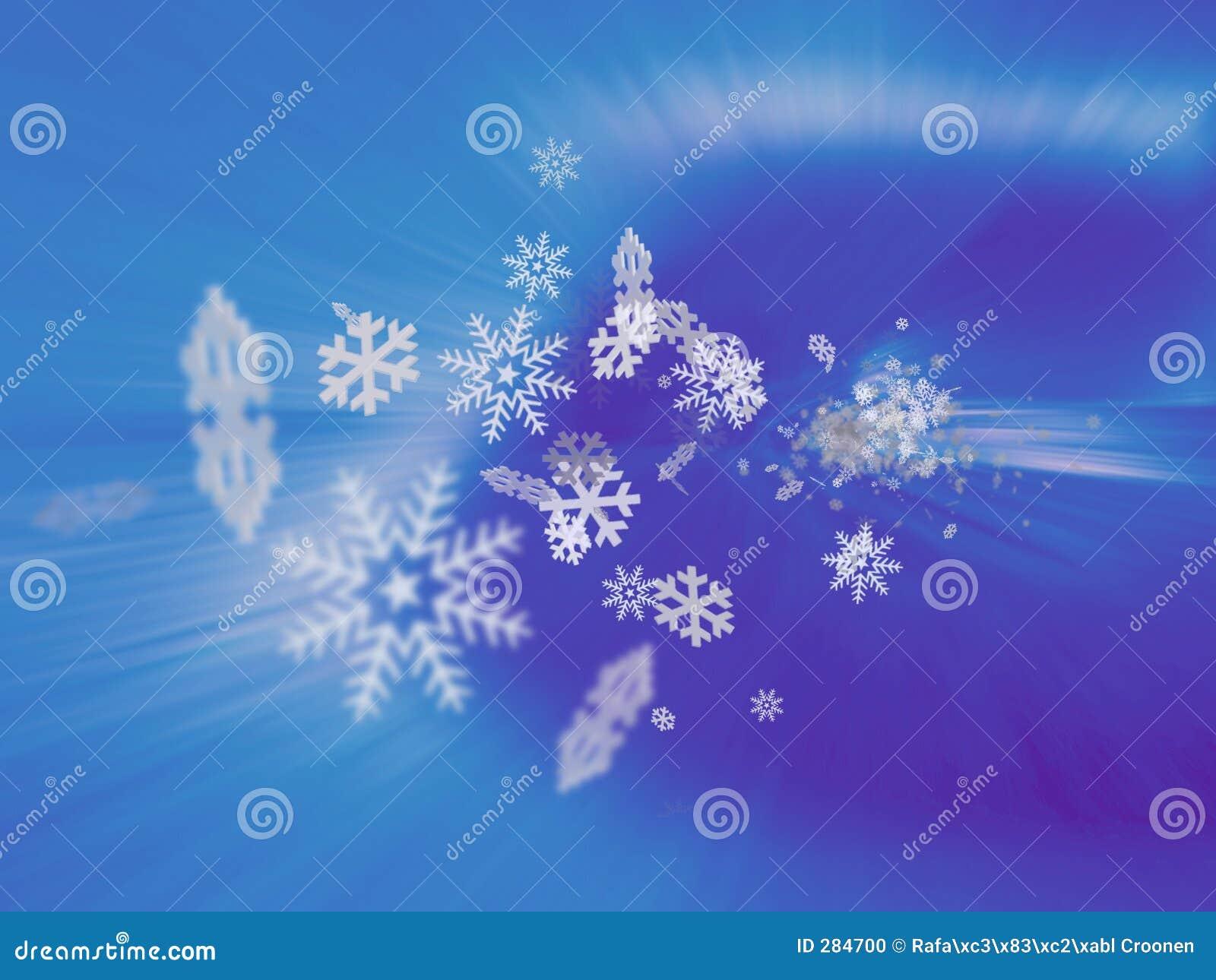De blizzard van de sneeuwvlok