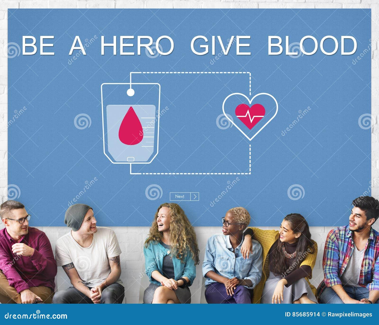 De bloeddonatie geeft het Concept van Sangre van de het Levenstransfusie