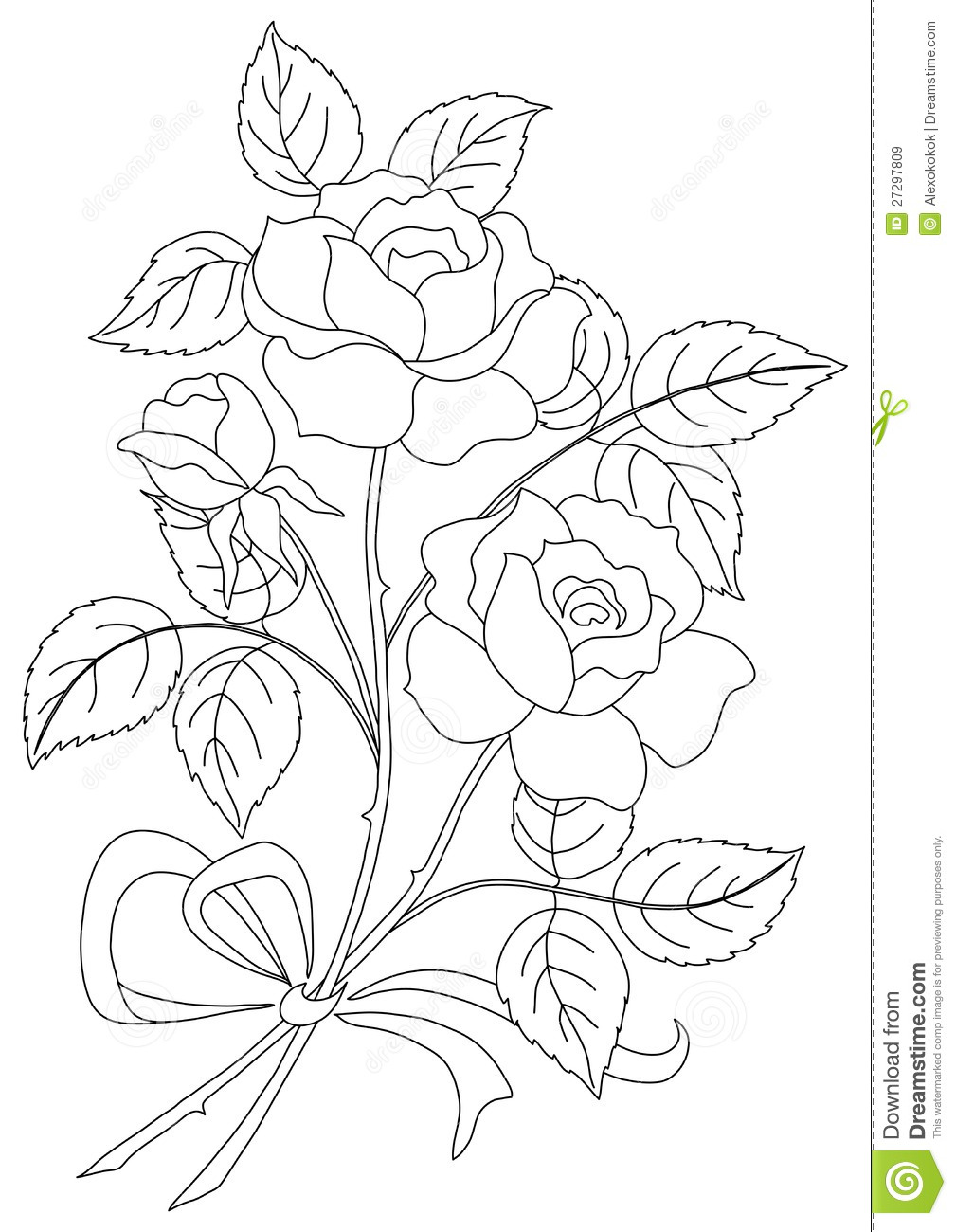 Flower coloring pages for adults roses