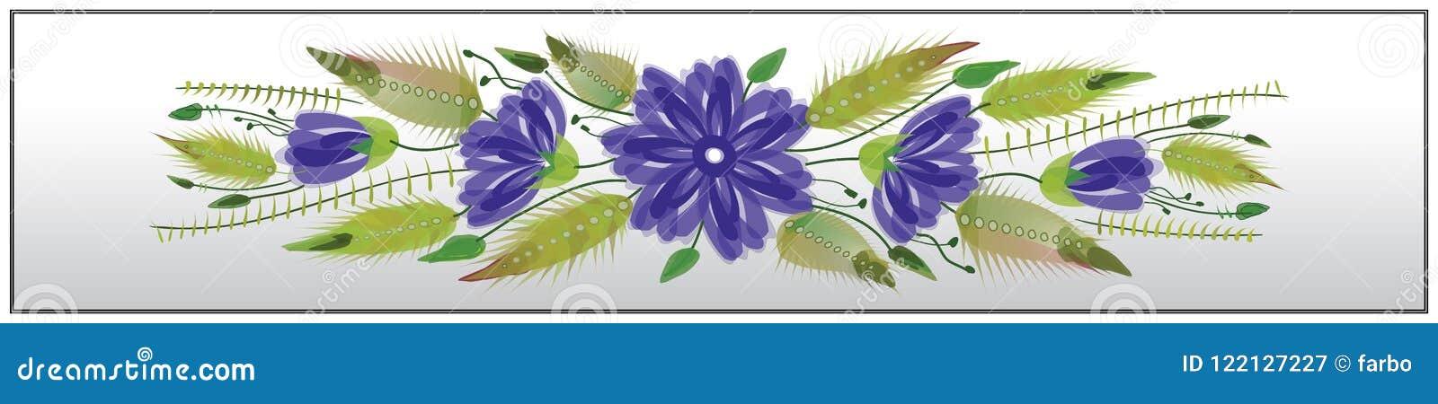 De bloemen sierstijl van referentie volkspetrykivka