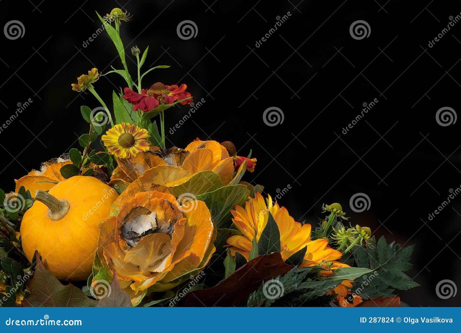 De bloemensamenstelling van de herfst