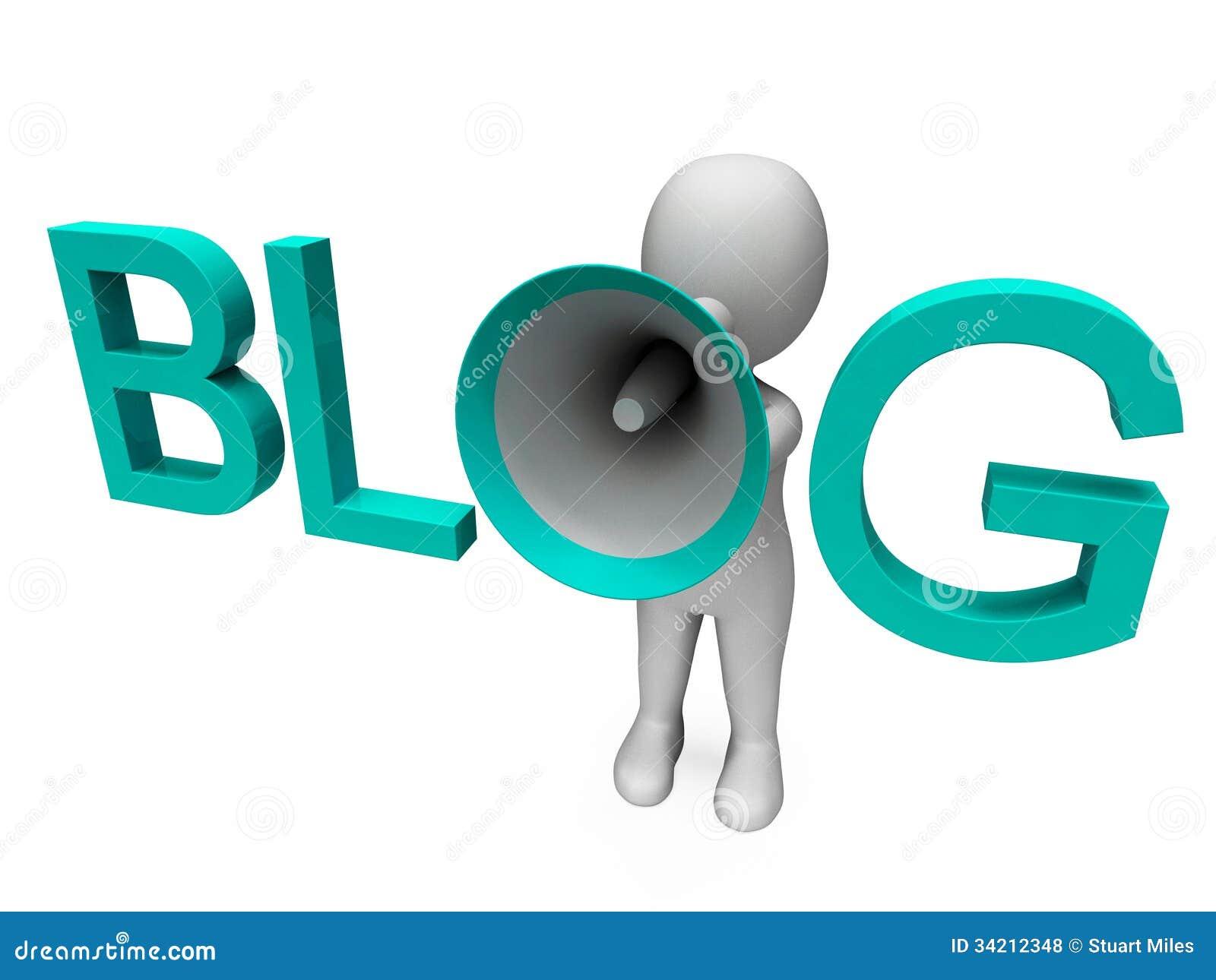 De blog Hailer toont de Internetsite van Blogging of Weblog-