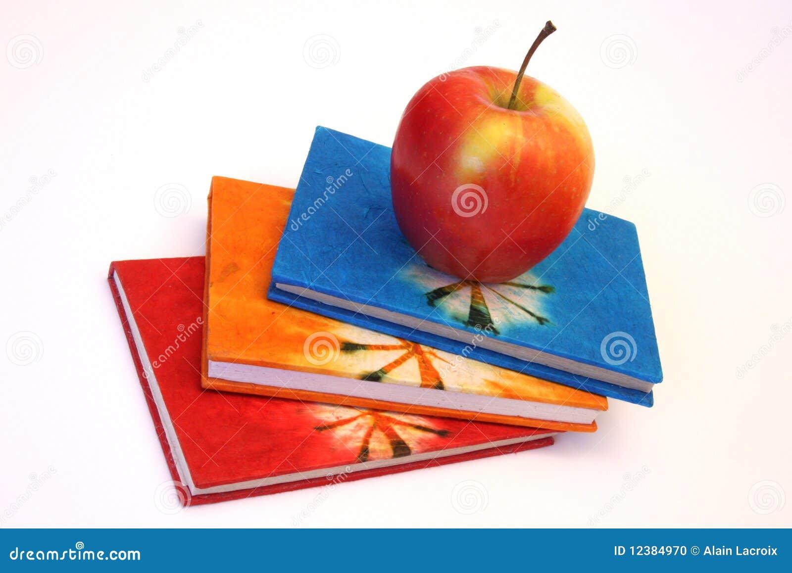 De boeken en de appel van de studie