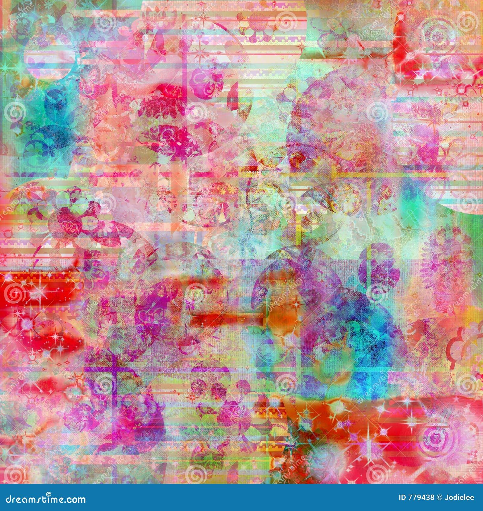 De Boheemse achtergrond van de de kleurentextuur van het batikwater