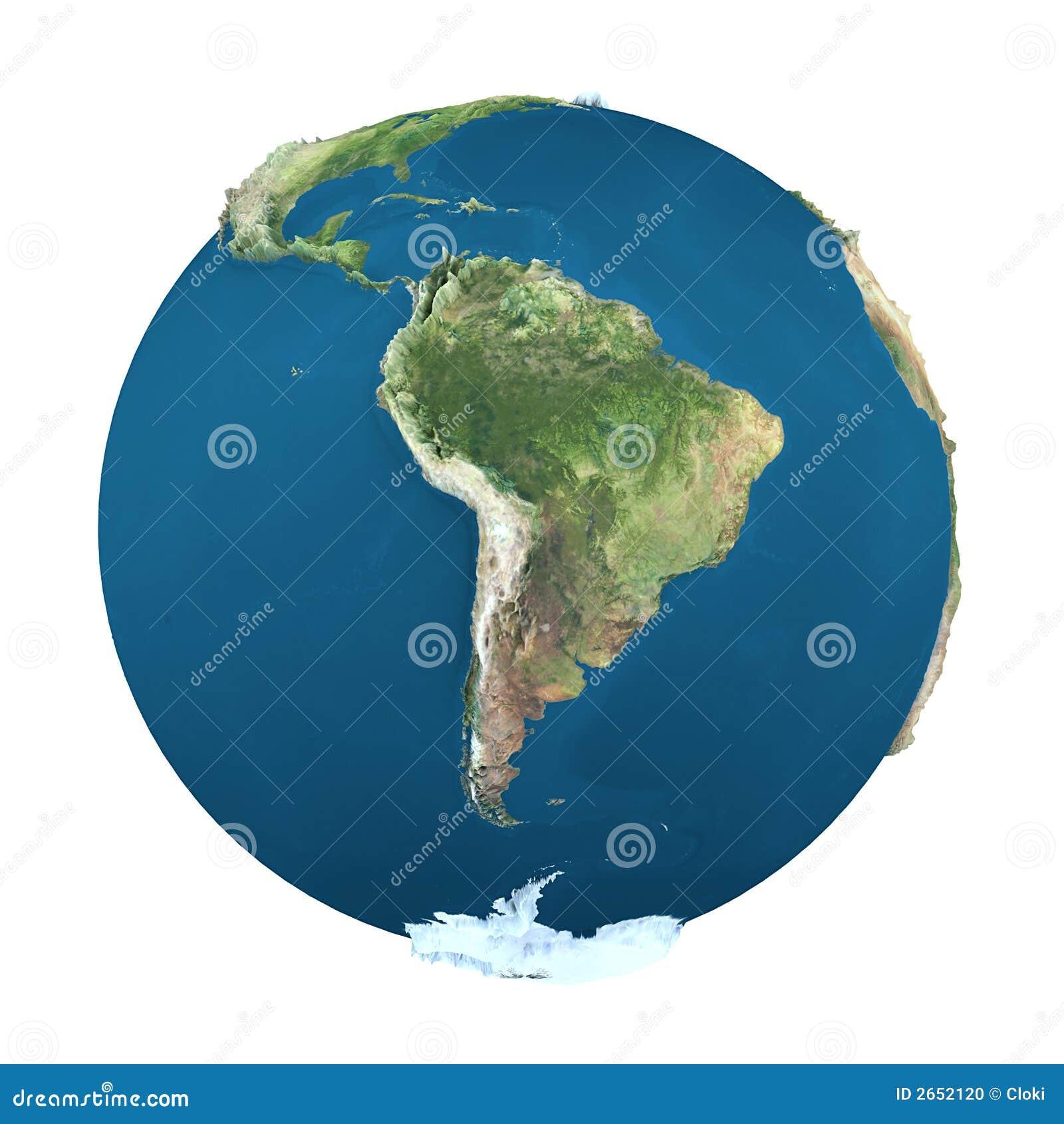 De bol van de aarde, die op wit wordt geïsoleerds