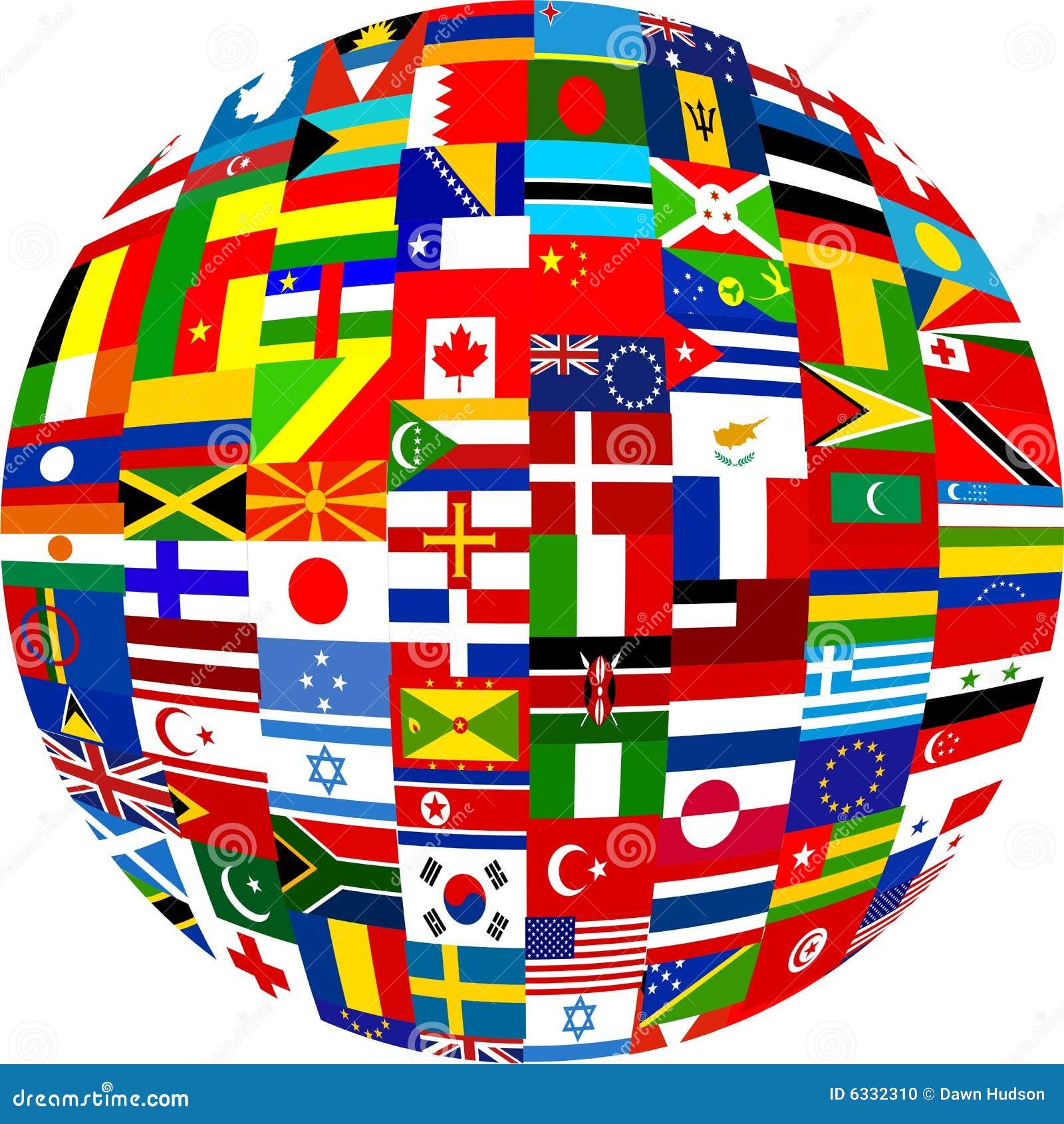 De bol van de vlag