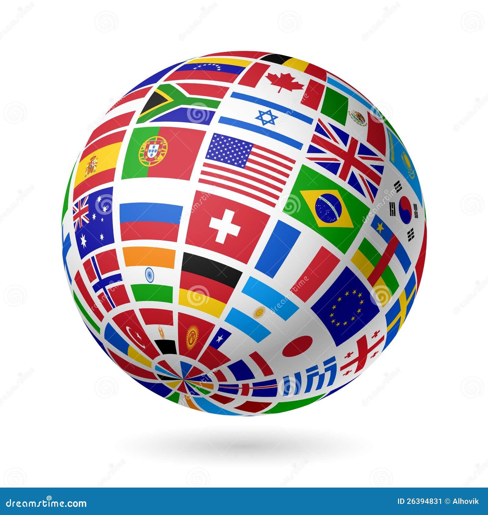 De bol van vlaggen