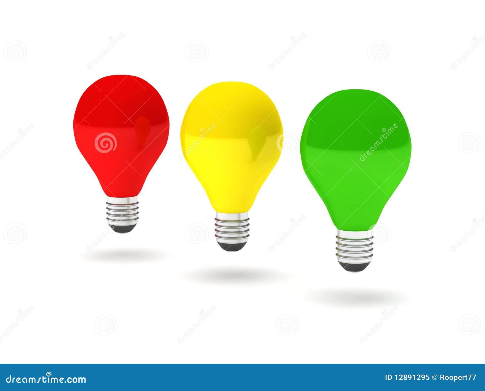 Rood Licht Lamp : De bollen van het rood licht stock illustratie illustratie