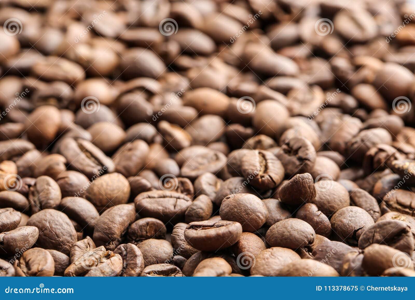 De bonen van de koffie, close-up