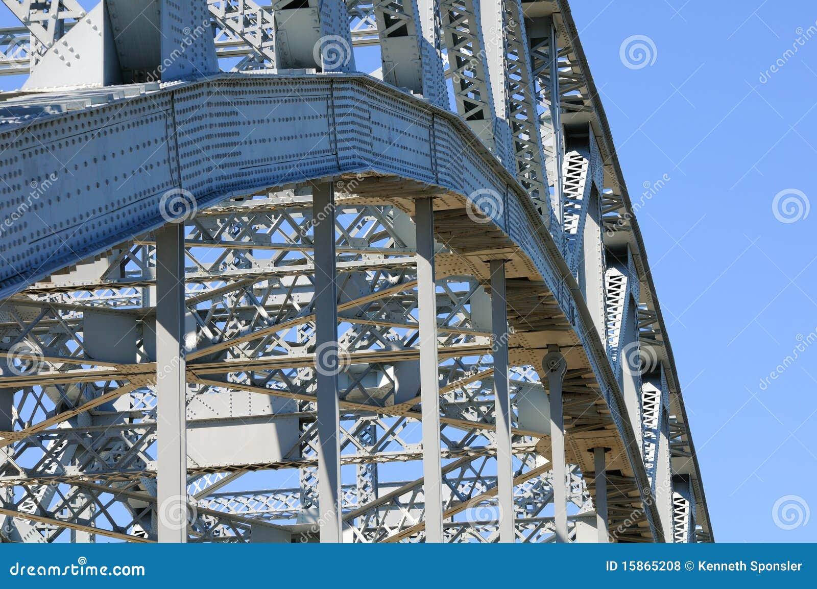 De boog van de brug