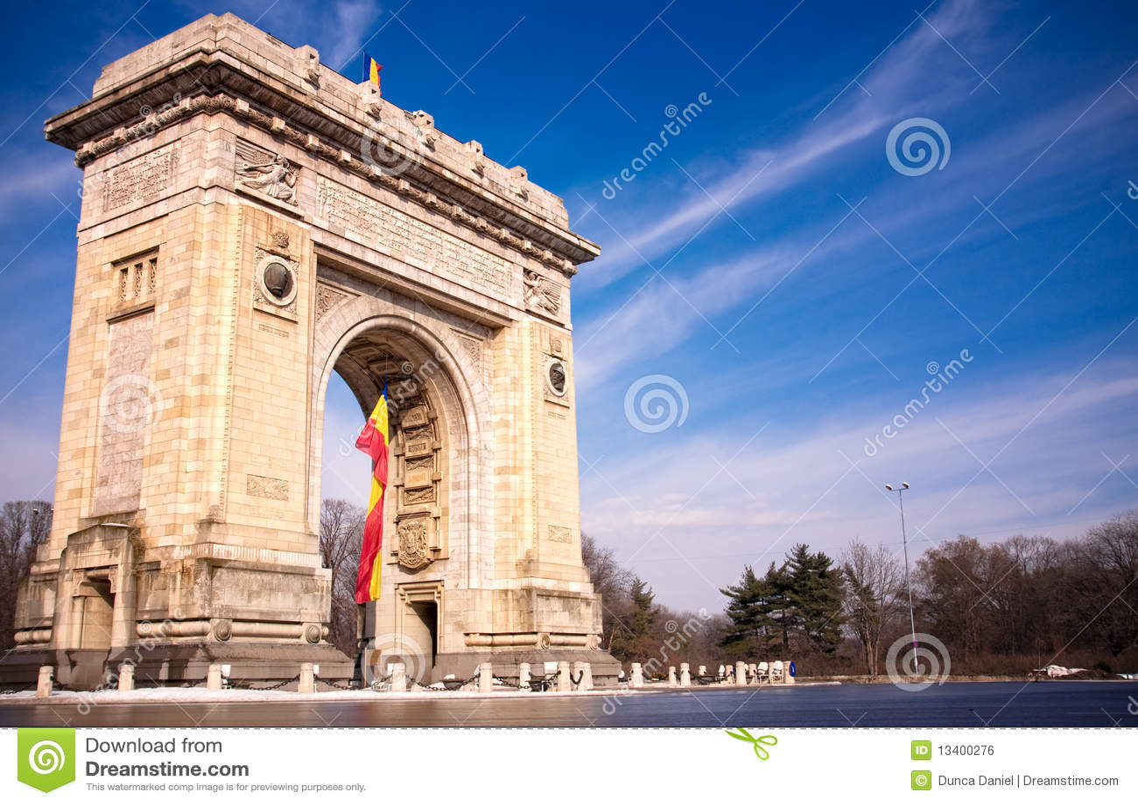 De Boog van de triomf in Boekarest Roemenië