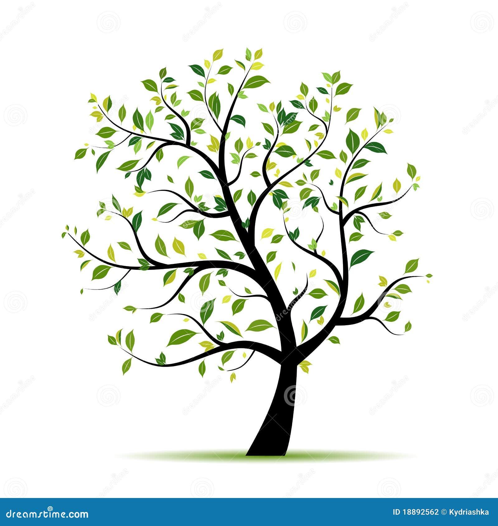 De boom van de lente groen voor uw ontwerp stock fotografie afbeelding 18892562 - Boom ontwerp ...