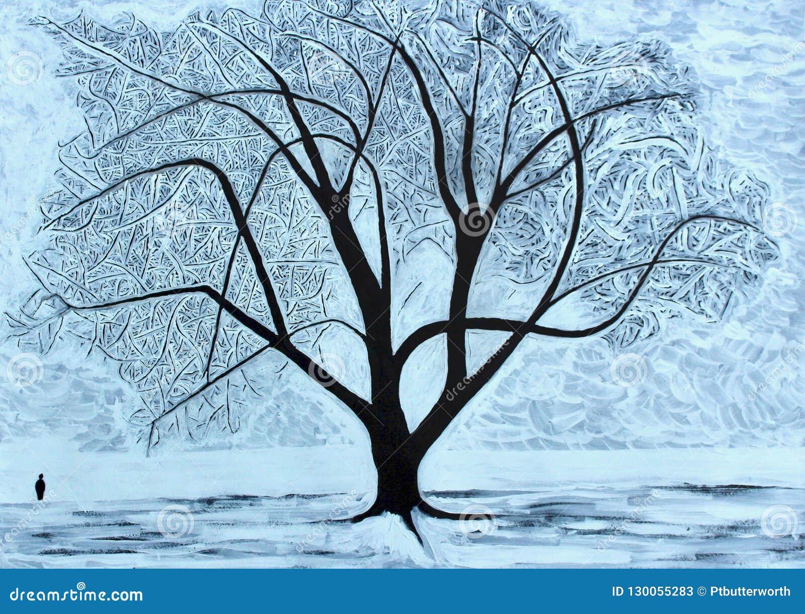 De boom van de winter