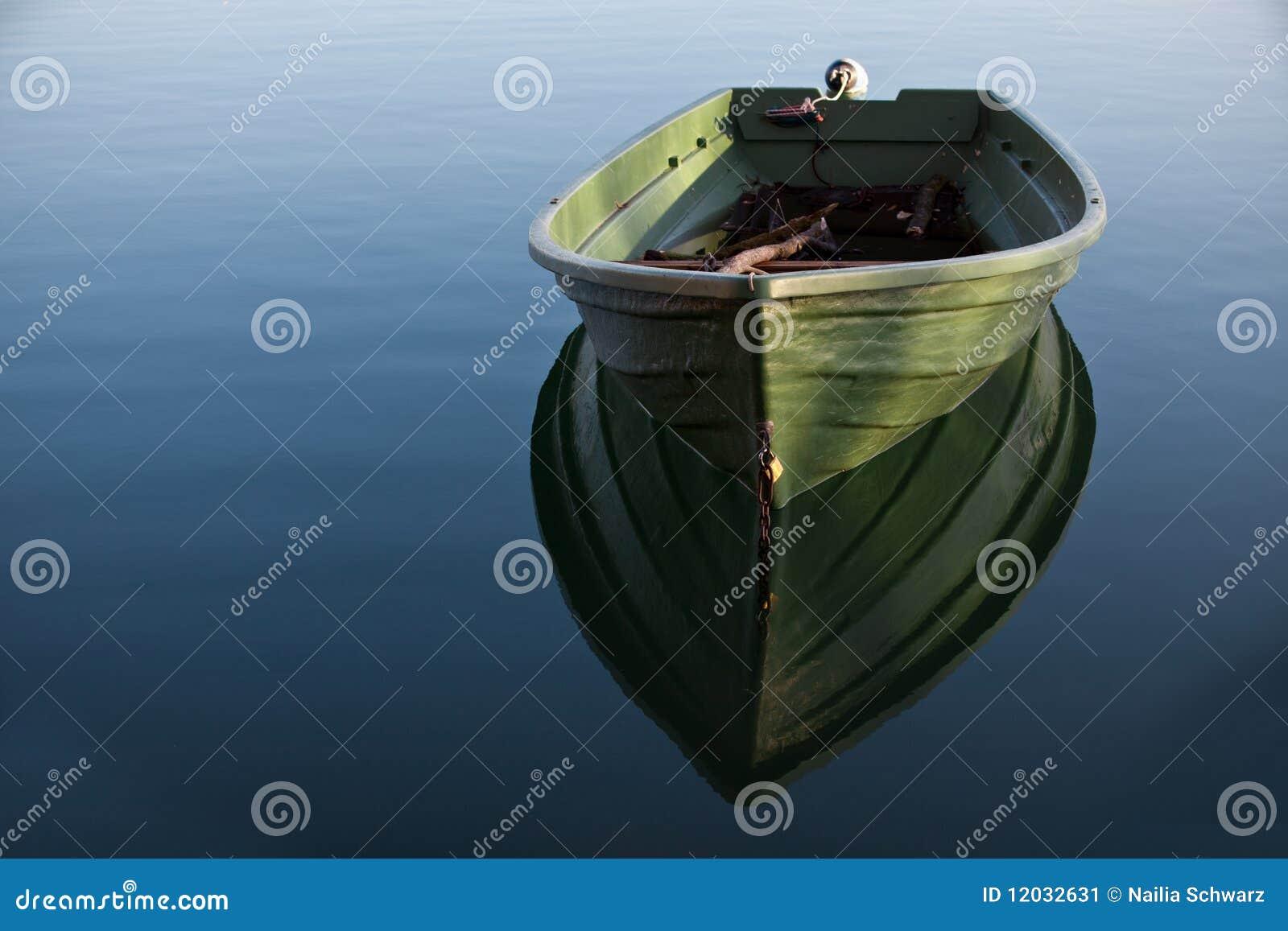 De boot van de rij op Meer