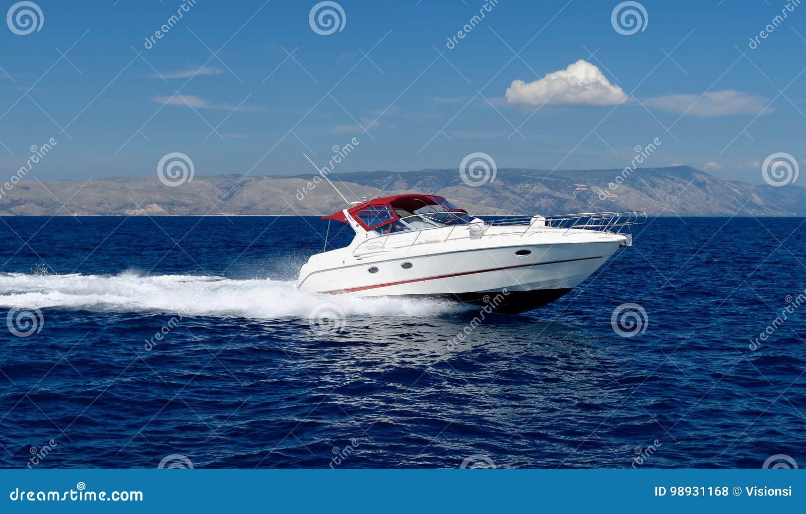 De boot van de motorsnelheid