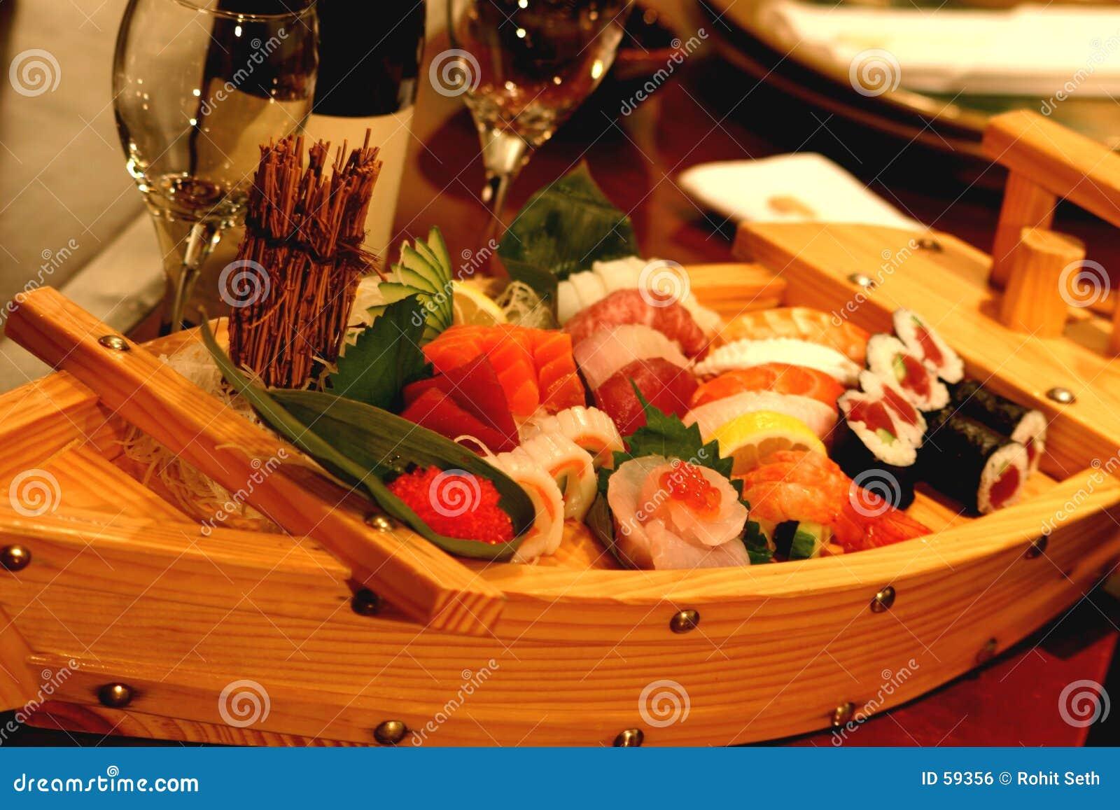 De Boot van sushi