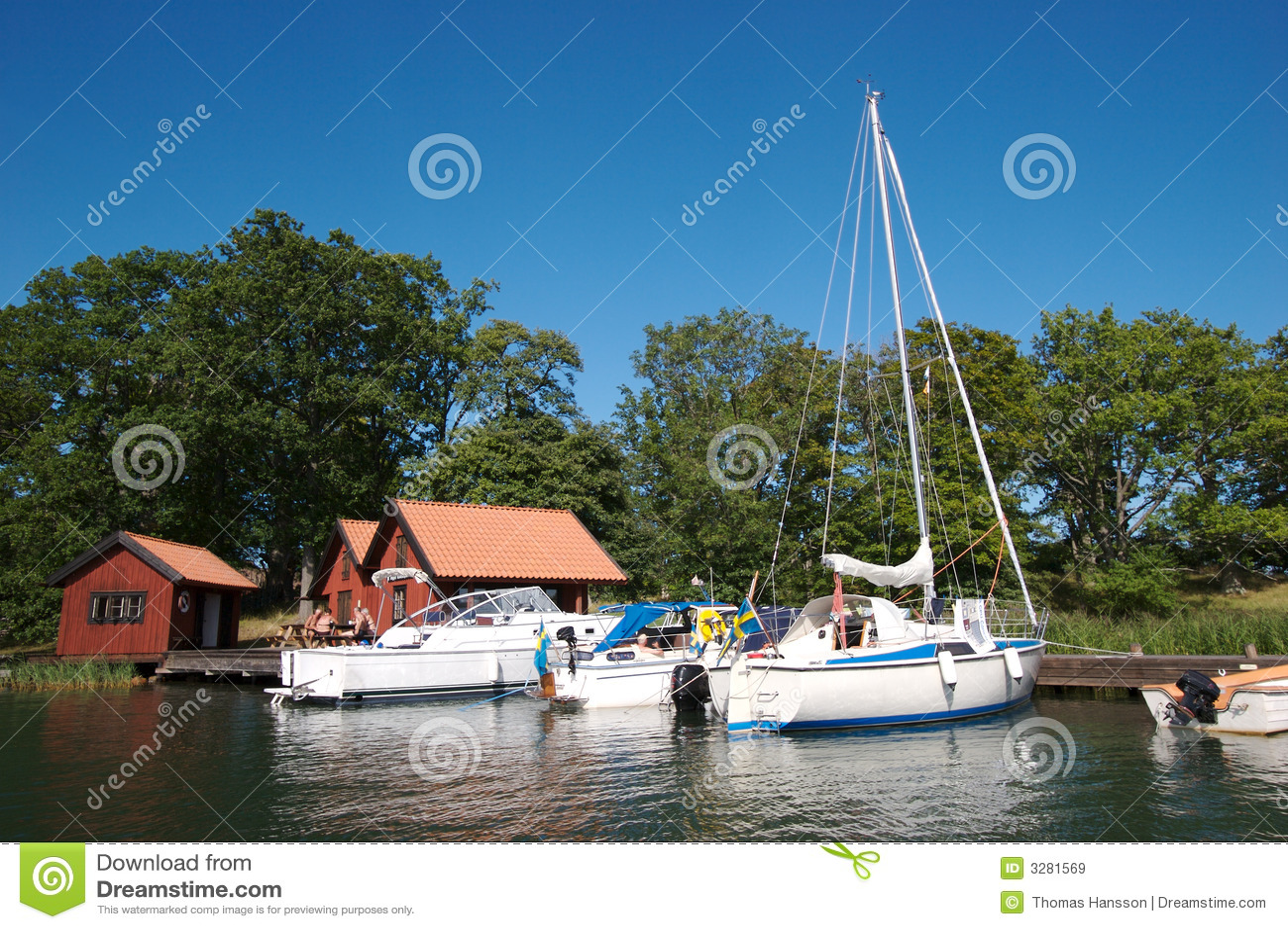 De bootdok 12 van Zweden