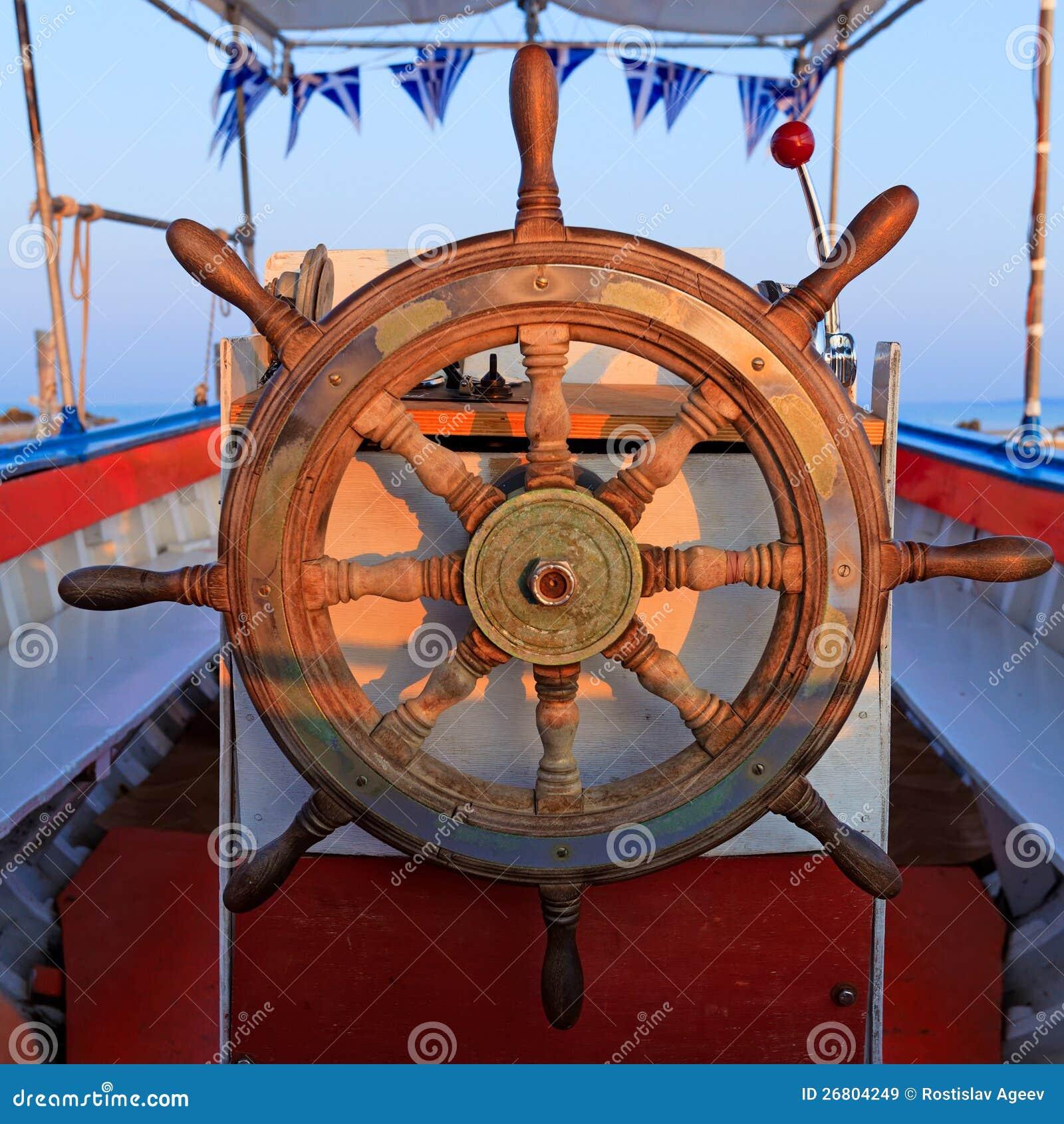 De bootwiel van de leiding