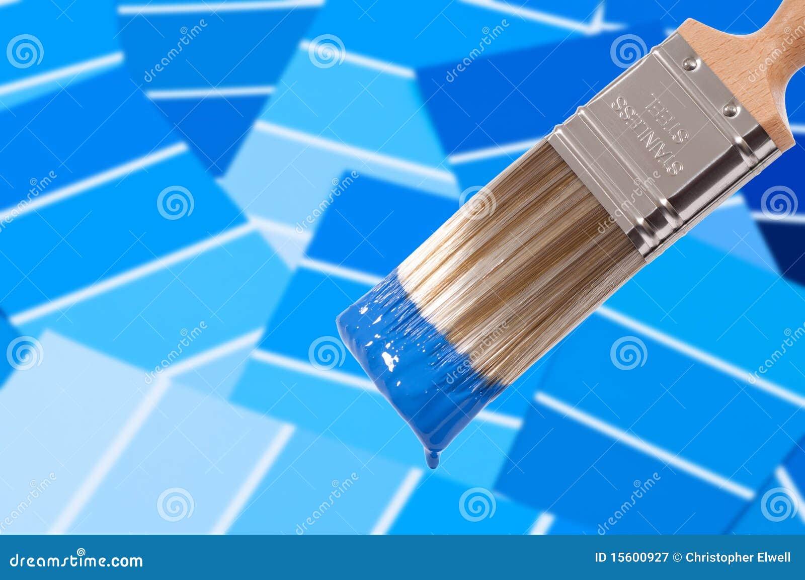 De borstel van de verf blauw royalty vrije stock fotografie afbeelding 15600927 - Monster verf ...