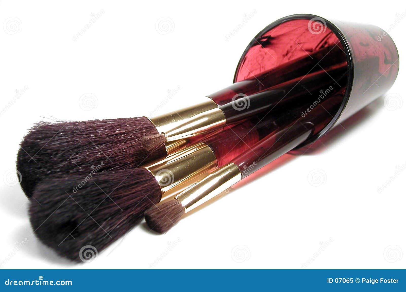 De Borstels van de make-up