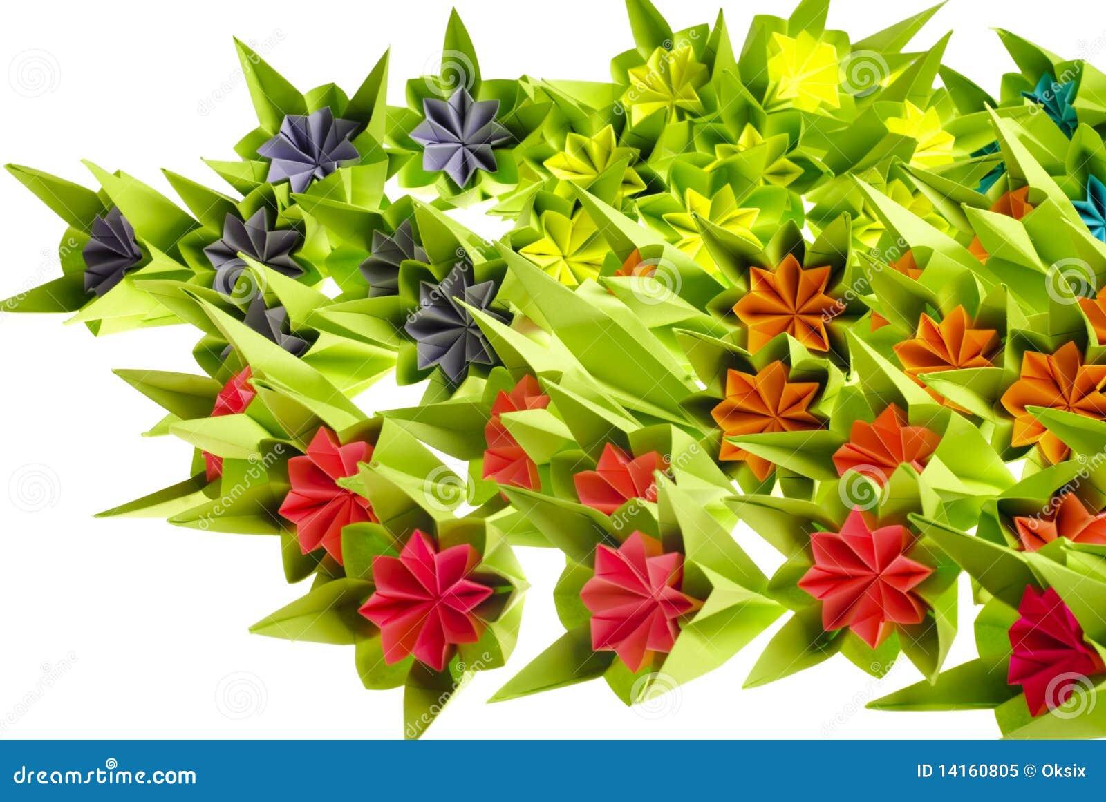 De bos van de origami