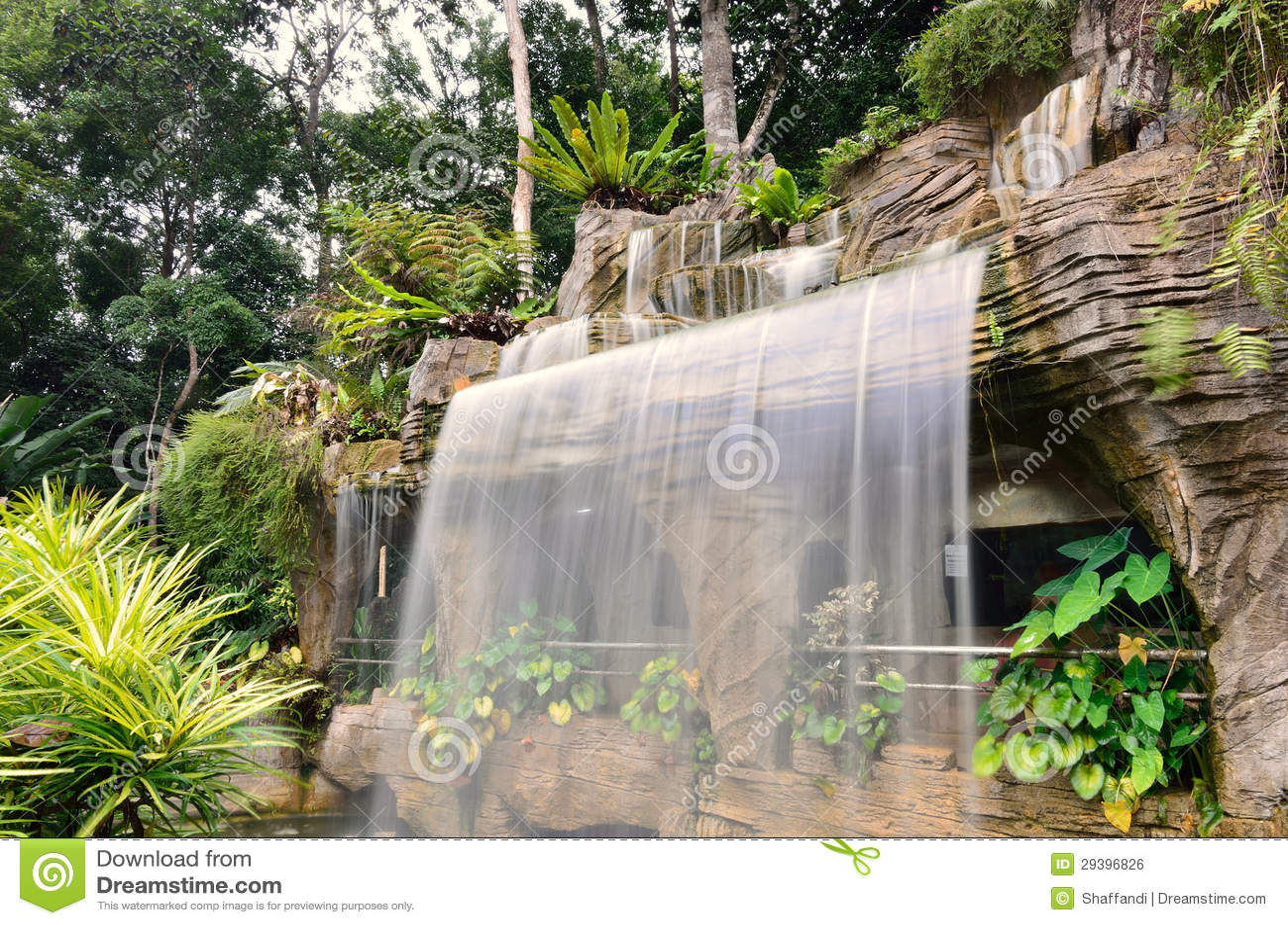 De botanische waterval van de tuin royalty vrije stock for Cascadas de jardin