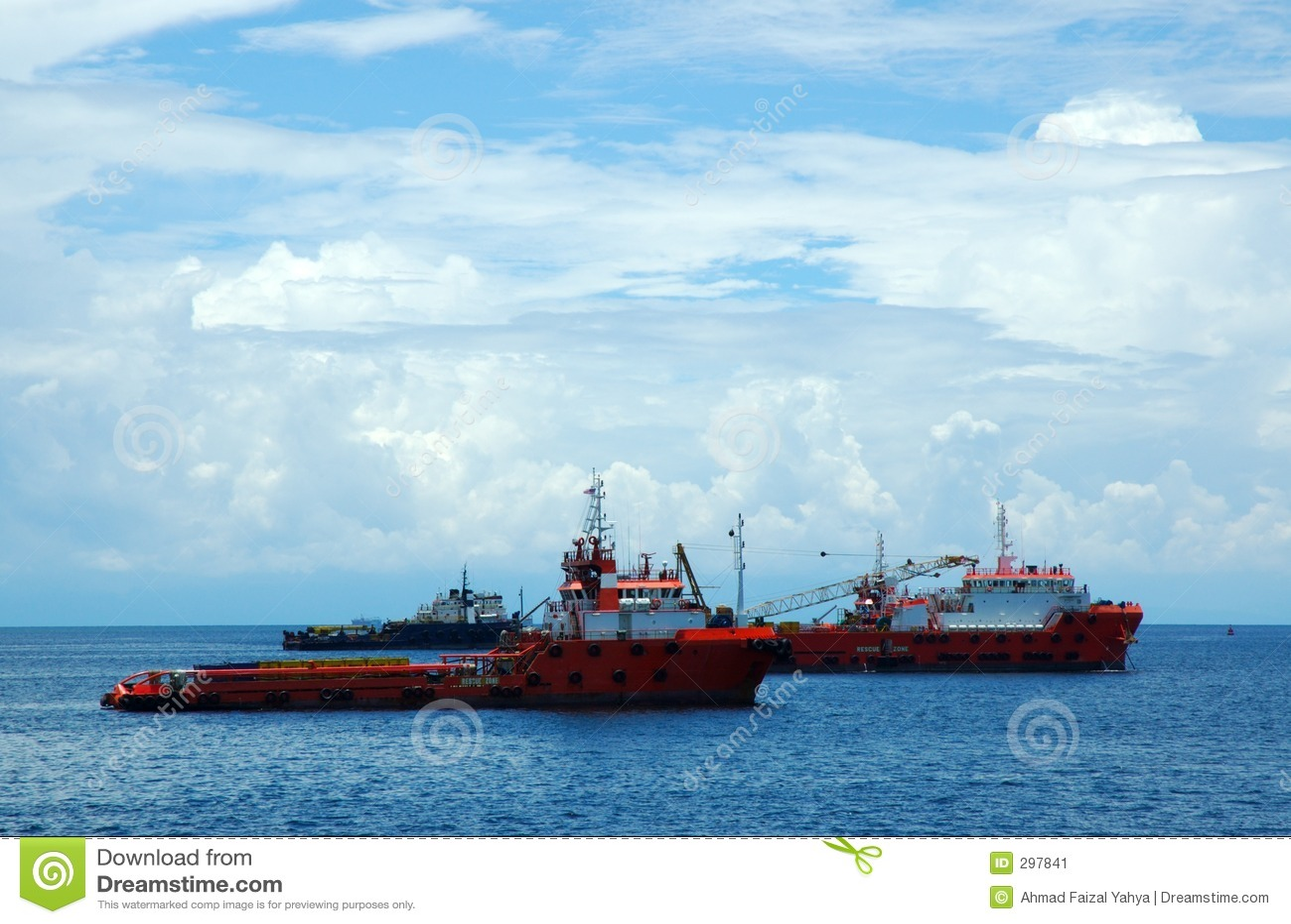 De boten van de redding