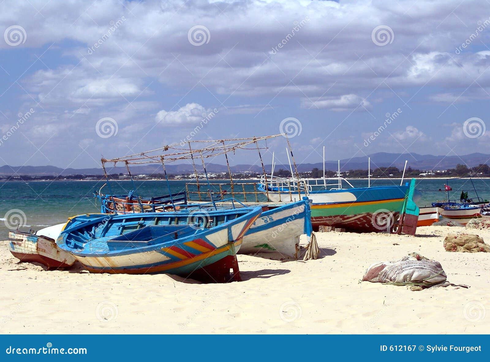 De boten van de visser  s - Tunesië.