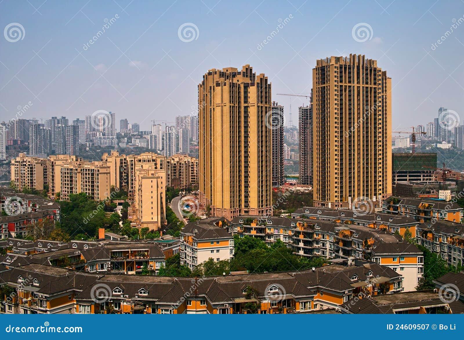 De bouw in Chongqing
